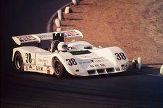 1971 Times Grand Prix - Riverside International Raceway. Brian Redman drives his Chevrolet powered BRM (British Racing Motors) P167 to a fourth place finish.