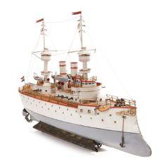 "Bing Clockwork ""Terrible"" Battleship Germany, circa 1905 | lot | Sotheby's Malcom Forbes Colllectio $ 18,750"