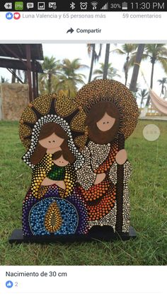 Christmas Rock, Christmas Nativity, Christmas Holidays, Christmas Crafts, Christmas Decorations, Xmas, Dot Art Painting, Mandala Painting, Painted Wooden Boxes