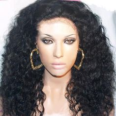 Curly// Indian Remy  Hair// Full Lace Wig// Part Anywhere 18-20 inches!!