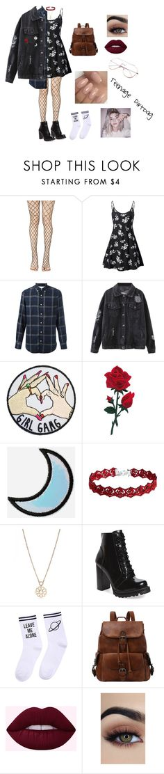 """Grunge"" by reveeza ❤ liked on Polyvore featuring Leg Avenue, Officine Générale, Stoney Clover Lane, Kate Spade, Jeffrey Campbell and Yeah Bunny"