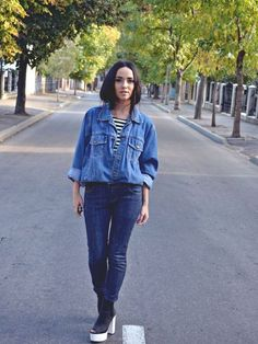 "♥ this look on whatiwear.com by ALEXANDRA MOLDOVAN ""DENIM CRUSH"" http://www.whatiwear.com/look/detail/136455"