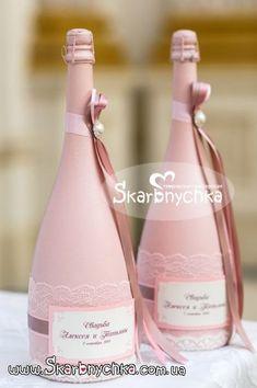 Свадебное шампанское, шампанское на свадьбу, украшение, оформление бутылки шампанского. | Творческая мастерская Скарбнычка. Свадебные аксессуары ручной работы, свадебные букеты, букет невесты, оформление свадьбы, выездная церемония Wedding Bottles, Wedding Glasses, Champagne Glasses, Diy Bottle, Bottle Vase, Wine Bottle Crafts, Wine Bottle Design, Wine Bottle Candles, Decorated Wine Glasses
