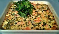 Clafoutis aux courgettes et saumon WW, recette d'un délicieux clafoutis salé à base de courgettes et saumon fumé, très gourmand et léger, facile et parfait à réaliser pour un repas accompagné d'une bonne salade.