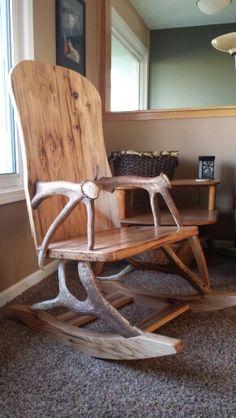 Elk antler rocking chair