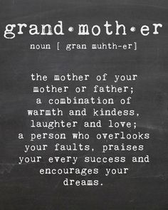 Grandmother Printable Chalk Wall Art by AandLBanners on Etsy, $5.00