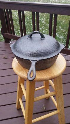 Antique Large M 20 Gallon Cast Iron Pot Handle Footed