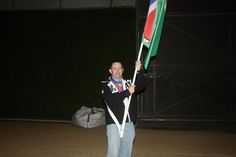 I got to carrya flag into the olympic stadium...ok it was a full dress rehearsal, but it was an amazing experience. I did two dress rehearsals and i actually joined the volunteers dancing on the second one..it was a bit of a mistake, i couldnt move the next day lol