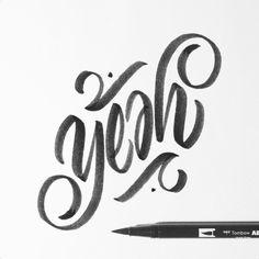 "jexpo1976: "" Yeah. #ambigram #calligraphy #calligraffiti #brushpen #tombow…"