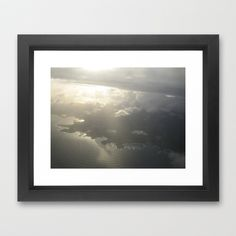 Into the clouds Framed Art Print by Lisa De Rosa-Essence of Life Photography - $37.00