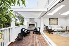 From outdoor wood fireplaces, to gas fires and Fire Table's, get your backyard ready for summer with an Escea outdoor fireplace. Stone Tile Fireplace, Outdoor Wood Fireplace, Fireplace Tile Surround, White Fireplace, Fireplace Surrounds, Fireplace Design, Outdoor Fireplaces, Fireplace Ideas, Outdoor Seating Areas
