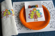 Kids Thanksgiving Table Free Printables