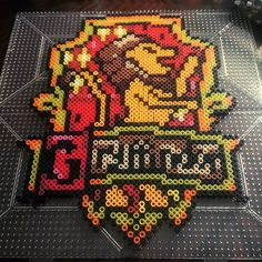 Gryffindor - Harry Potter perler beads by this_life_creations