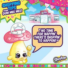 Dum Mee Mee wants to get shoppin'! Who wants to be her shopping buddy?! #ShopkinsTips #shopkins #shopping #seasontwo #shopkinsworld