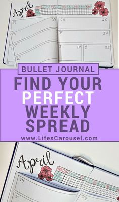 Weekly Bullet Journal Spread – Finding the Perfect Weekly Layout | Weekly Spread ideas, layouts, simple and minimalist ideas. Perfect for work or school. Dutch door and half page designs!