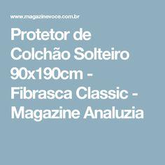 Protetor de Colchão Solteiro 90x190cm - Fibrasca Classic - Magazine Analuzia
