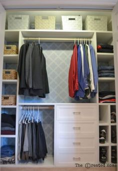 Walk in closets get all the love, but a custom closet for a reach in is an awesome solution to closet envy. Here's how to build your own!