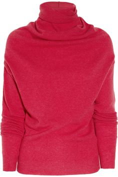 Lanvin Draped wool and cashmere-blend turtleneck sweater