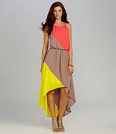 Gibson and Latimer Halter Colorblock Dress #Dillards  http://www.dillards.com/product/Gibson-Latimer-Halter-Colorblock-Dress_301_-1_301_503792260?rr=true