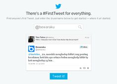 FirstTweet - Tweet Pertama