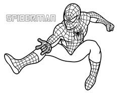 download spiderman superhero coloring pages for free - Coloring Pages Boys Spiderman