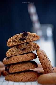 Moje Wypieki   Bezmączne ciasteczka orzechowe Chocolate Peanut Butter Cookies, Biscuit Cookies, Desert Recipes, Mini Cakes, Cakes And More, No Bake Desserts, Biscotti, Gluten Free Recipes, Sweet Tooth