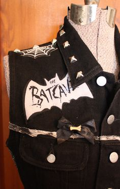DIY Trad Goth Deathrock upcycled black Dark Punk by CoffinKitsch