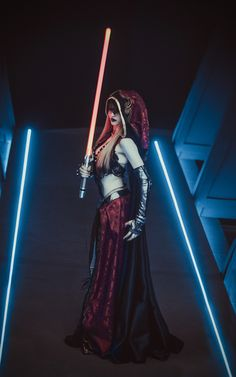 Cosplayer @Vavalika with an awesome dark lady #sith! #cosplay #starwars