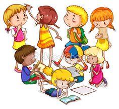 dzieci  — Ilustracja stockowa #76515535