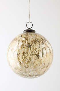 Anthropologie - Golden Glimmer Ornament
