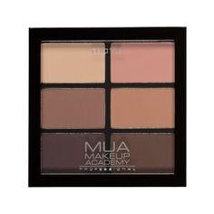 MUA Professional 6 Shade Eyeshadow Palette - Soft Suedes