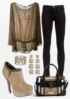 #SKINNY JEANS #BLACK JEANS #BLACK #TAN HEELS #TAN TOP #CUTE PURSE #OOTD #OUTFIT OF THE DAY