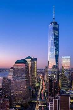 ˚One World Trade Center New York Cityscape, New York Skyline, Monuments, America City, New York One, One World Trade Center, New York City Travel, City Landscape, Birds Eye View