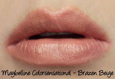 Maybelline Colorsensational Stripped Nudes - Brazen Beige Lipstick Swatches & Review