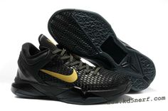 Nike Zoom Kobe 7 Shoes Elite Kobe Playoff AwayBlack Gold Hot