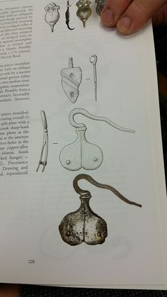 copper alloy hanger, possibly tinned or silvered, private collection. From _Hooked-Clasps and Eyes_ by Brian Read