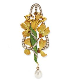 Nymph Brooch/Pendant with Leaves
