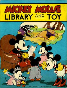 Mickey Mouse Library and Toy Book Box: David McKay (USA), 1930s. See I KNEW Mickey and Minnie were more than platonic friends!