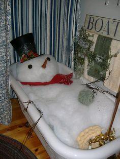Snowman bath :)