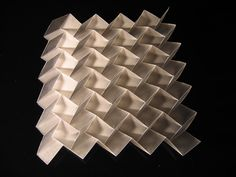 3D Tile: frosted polyprop - dazzle camouflage by polyscene