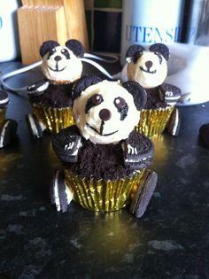 Panda Bear Oreo Cupcakes :) Oreo Cupcakes, Panda Bear, My Love, School, Desserts, Food, Tailgate Desserts, Meal, Deserts