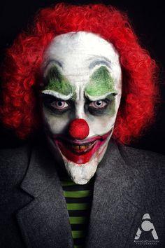 Evil Clown by ~Prettyscary #Halloween #Halloween make-up