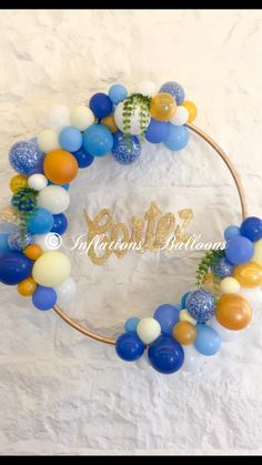 Imagine this with your colour scheme as a backdrop to your ceremony Ballon Decorations, Dinner Party Decorations, Balloon Centerpieces, Birthday Decorations, Balloon Wreath, Balloon Backdrop, Balloon Columns, 65th Birthday, Baby Birthday