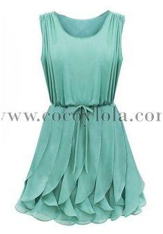 Vestido verde agua con pinza