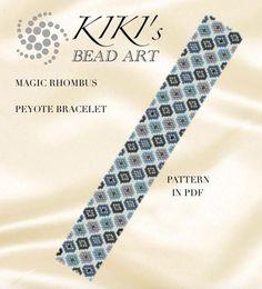 Pattern peyote bracelet Magic rhombus peyote bracelet