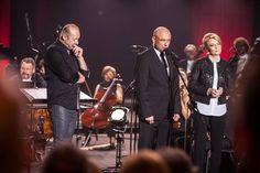Koncert The Four Colors of Łódź  na zdjęciu: Zbigniew Preisner, Witold Krawczyk, Hanna Zdanowska  foto: Dariusz Kulesza