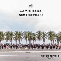 Escravidão realmente existe, mas a liberdade é realmente possível. Rio de Janeiro, Brasil, está de pé por essa liberdade. #WalkForFreedom #caminhadapelaliberdade @a21  #a21 #walkforfreedom2016