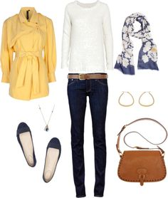 """Yellow and Blue"" by bluehydrangea on Polyvore"