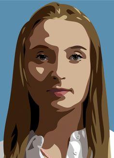 JULIAN OPIE - ELENA ROLLING HER EYES (3 PORTRAITS) - GALERIE FLUEGEL-RONCAK…
