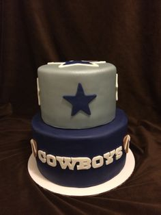 2 Tier Dallas Cowboys Cake